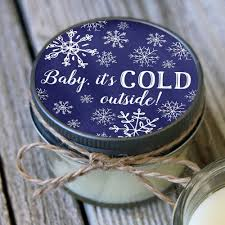 baby it s cold outside baby shower set of 12 4 oz baby it s cold outside baby shower favor candle