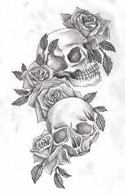 deviantart more like skulls and roses by adler666 skulls