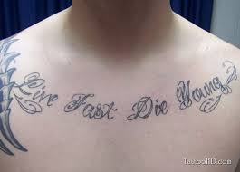 chest quote for men tattoo tattoos book