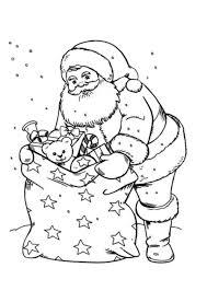 Pere noel hotte cadeaux  Coloriage Père Noël  Coloriages pour enfants