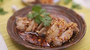 cuisine cooky cooky 口水雞chicken with chili and vinegar sauce