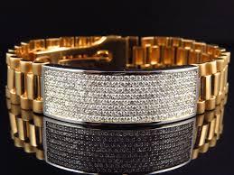 white gold yellow gold bracelet images Mens pave 18k yellow gold genuine white 12 mm vs diamond id jpg