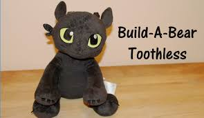 toothless build bear dragon plush train