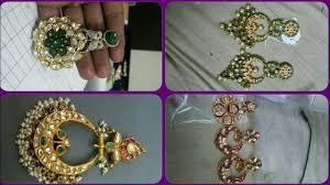 rajputi earrings golden rajputi earrings design new jadau cahnd bali