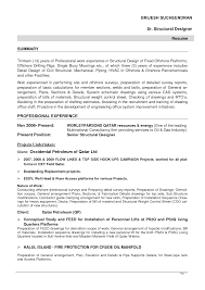 Resume Format For Experienced Mechanical Design Engineer Offshore Resume Samples Resume For Your Job Application