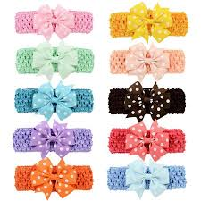 baby girl hair accessories coxeer 10 pcs baby hair bows alligator headband