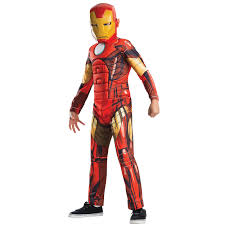 buy avengers assemble deluxe kids iron man costume