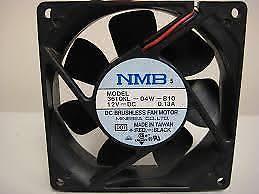 high cfm case fan quiet high cfm 92mm double ball bearing silent case fan nmb 3610nl