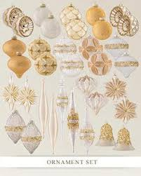 And Gold Glass Ornaments Gramercy Park Glass Ornament Set 30 Pieces Balsam Hill