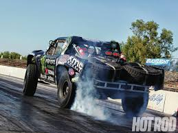 monster truck drag racing baja vs boss baja trophy truck at the drags rod network