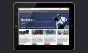 Website Design For Acexposure Commercial Photography Broadgate