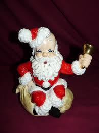 vintage 1960 1970 atlantic mold santa ceramic display figurine