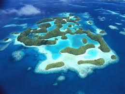 Volcanic Sand Beaches Lagoon Palau Ocean Pacific Pardise Tropical Volcanic