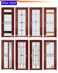 Bathroom Door Designs Chinese Knot Pattern Glass Door Light Green Aluminum Bathroom Door