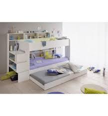 chambre garçon lit superposé lit superposé chambre enfant coloris blanc avec tiroir
