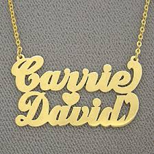 custom name chains personalized gold custom two names pendant name necklace