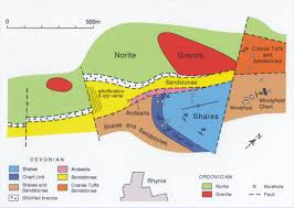 Geological Map Geology Of The Rhynie Chert