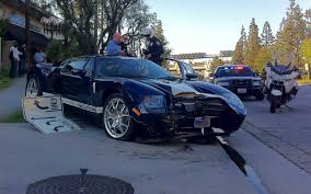 Black Mustang Crash Police Blotter Ford Gt Crashes Into Motor Trend Hq