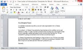 free letter of introduction template for word