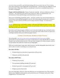 Linkedin Profile In Resume Show Me Completed Resume Cover Letter Usa Today Cover Letter