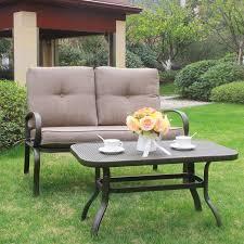 Mountain Outdoor Furniture - cloud mountain patio loveseat outdoor 2 pcs loveseat furniture set