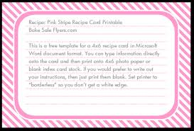 4x6 template free 4 6 recipe card template bake sale flyers free flyer designs