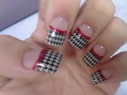houndstooth alabama fans nail art gallery