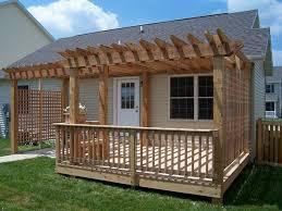 pergola over deck gardening design