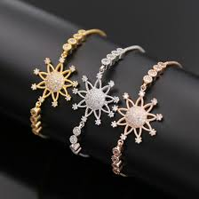 gold jewelry bracelet designs images China sun flower design adjustable white rose gold yellow gold jpg