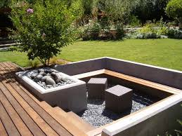fire pit wood deck terrific sunken seating area landscape modern with wood bench wood