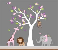 Nursery Room Wall Decor Baby Room Wall Decor Nursery Jungle Wall Decal Tree Monkey