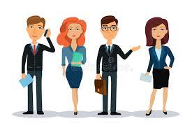equipe bureau gens d affaires de caractères équipe d affaires groupe d employés