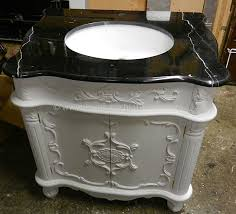 French Vanity Units Bespoke Sink Vanity Unit With Solid Marble Top