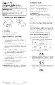 wiring diagrams tekonsha prodigy p2 trailer brake controller