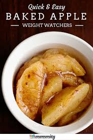 baked apple microwave recipe 2 ww points