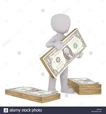 Dollar Floor by 3d Figure Of Faceless Cartoon Man Holding Stack Of Dollar Bills
