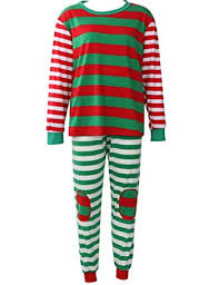 Christmas Pajamas for Family Kid Women Men Xmas Pjs Set Stripe Sleep