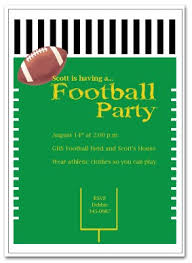 printable football party invitation template