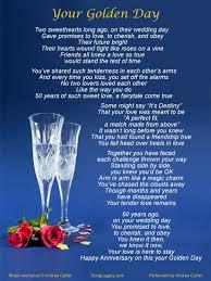 Greetings For 50th Wedding Anniversary 50th Wedding Anniversary Songs List Gift Ideas Bethmaru Com