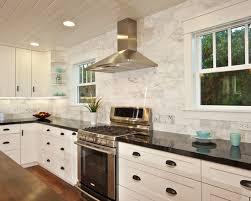 Tile Back Splash Emerald Pearl Granite Counter With Venetian - Tile backsplash