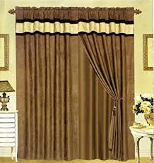 Black And White Modern Curtains Amazon Com Modern Black Brown And White Suede Patchwork Window