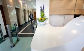 Corian Reception Desk Corian Reception Desk In London Bank By Solidity Ltd Offices
