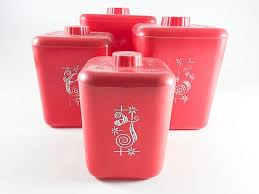 Red Kitchen Canisters - 377 best canisters images on pinterest vintage kitchen canister