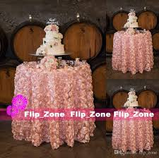 Cheap Table Cloths by Blush Pink 3d Rose Flowers Table Cloth For Wedding Party