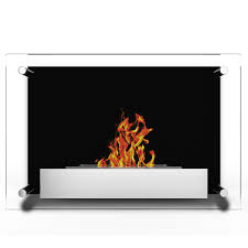 elite flame milan ventless bio ethanol wall mounted fireplace