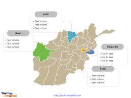 Kabul Map Free Afghanistan Editable Map Free Powerpoint Templates