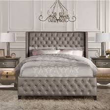 Queen Size Headboards And Footboards by Queen Or King Size Memphis Bed Set With Rails In Diva Textured