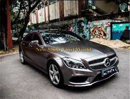 chrome benz 2018 top quality anthracite charcoal grey satin chrome vinyl car