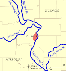 Map Of St Louis Mo File Navigable Rivers Near St Louis Mo Svg Wikimedia Commons