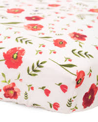 Muslin Crib Bedding Cotton Muslin Fitted Crib Sheet Summer Poppy Spearmint Ventures